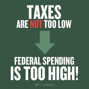 Not Taxes+Its Spending