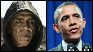 Barack Obama and satan actor